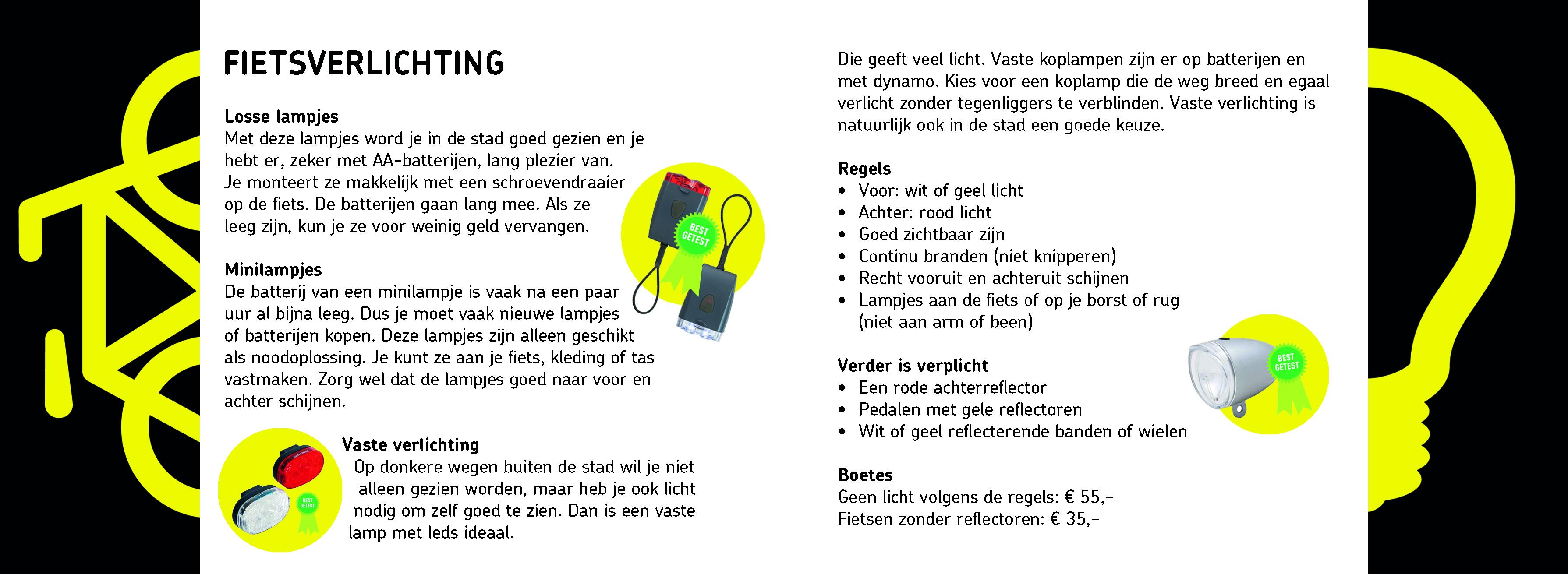 Actiekaart \'fietsverlichting\' | Actiematerialen